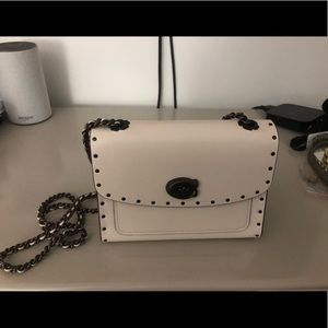 26ae16d2bc Coach Bags - Coach Parker 18 bag in Chalk with border rivets